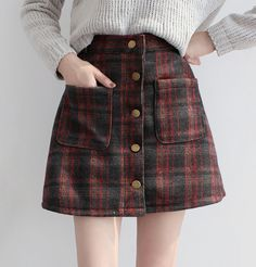 Skirts Mejores Plaid Faldas Button Mini De Skirts 61 Imágenes Y w7d1qXX