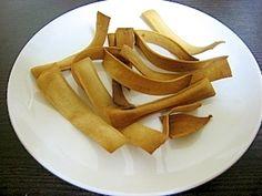 「おからパウダーdeスナック(シナモン味)」これもビニール袋1枚で作れます。見た目は…アレですが…味と食感は「八橋」みたいです。【楽天レシピ】