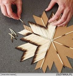 I present here a star made with matches. The result is magnificent. In addition it is very simple to do.