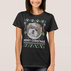 #Shih Tzu Dog Breed Ugly Christmas Sweater - #shih #tzu #puppy #dog #dogs #pet #pets #cute #shihtzu