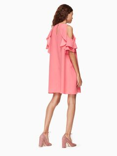 2d55bc91a Kate Spade Cold Shoulder Crepe Dress - Petunia Xxs Vestidos
