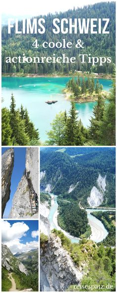 Cool nature and action-packed mountain experiences in Flims with teenagers - Travel Ideas 2019 Holidays Around The World, Places Around The World, Travel Around The World, Around The Worlds, Europa Tour, Holiday World, Reisen In Europa, Ciel, Travel With Kids