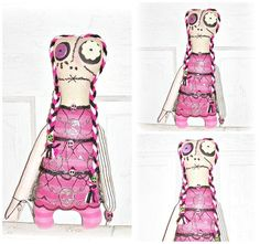 Folk Art Whimsy Monster Doll Punk Goth Eerie Monster by EerieBeth