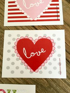 Free Printable Valentine Postcards!! -- Tatertots and Jello