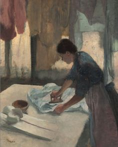 Woman Ironing by Edgar Degas. Learn how to paint like Degas with these composition tips. ^ch #paintinglesson #Degas