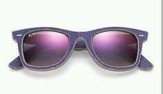 ce80fd59bf Authentic Ladies Ray-Ban Wayfarer Violet Jeans Sunglasses Rb2140 1167s5 for  sale online | eBay
