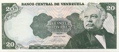 Pieza bbcv20bs-fd02s (Anverso). Billete del Banco Central de Venezuela. 20 Bolívares. Diseño F, Tipo D. Fecha Mayo 31 1990. Sin serie. Billete tipo specimen
