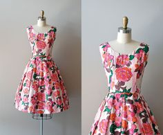 1950s Bloomed Poppies dress | https://www.etsy.com/listing/99875942/1950s-dress-60s-dress-bloomed-poppies?ref=v1_other_2    #vintage #vintagedress