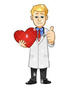 Vector Clipart, Vector Art, Male Nurse, Medical Symbols, Giving, Royalty, Hold On, Clip Art, Smile