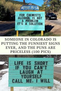 Someone In Colorado Is Putting The Funniest Signs, And The Puns Are Priceless (50 Pics)