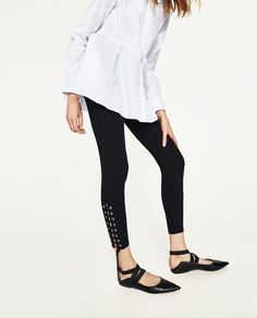 Image 5 of SKINNY TROUSERS WITH METALLIC DETAILS from Zara