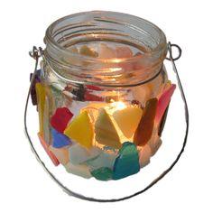 knutselpakket mozaieken lichtje, in dit pakket van Suus kinderfeestjes vind je alles om een leuk lichtje te maken met kinderen - make a nice light with little pieces of ceramics