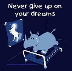 Never give up on your dreams :)