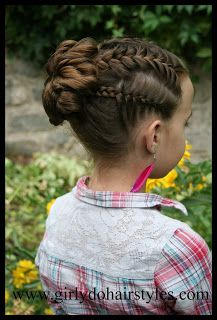 Girly Do's By Jenn: Big Flower Bun Updo Style