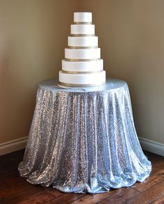 Silver Sequins Table Linen - Accent