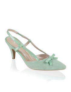 Lazzarini Veloursleder-Pumps - grün - Gratis Versand | Schuhe | Slings | Online Shop | 1321508991