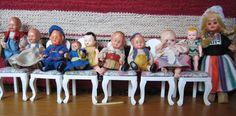 Saukonkujan kuulumisia - Vuodatus.net Vintage Dollhouse, Miniature Dollhouse, Dollhouse Dolls, Wrestling, Miniatures, Manualidades, Puppets, Lucha Libre