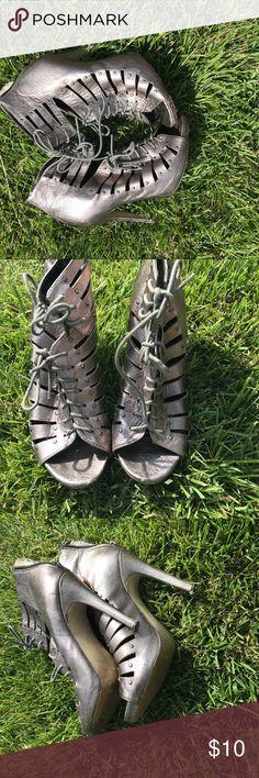 "Dolce Vita Shoes Metallic size 7 lightly worn DV shoes light worm metallic 5""heel DV by Dolce Vita Shoes Heels"
