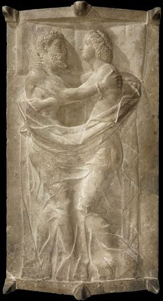 Etruscan sarcophagus- Married Couple Embracing.