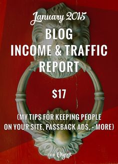 The January blog income and traffic report: my tips on increasing visitors' time on site, setting up passback ad tags, + more.