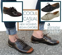 We love our new burnished vegan oxfords! The perfect casual shoe for Fall. #vegan #oxfords #oxford #women's #shoes #fall #fashion #faux #leather