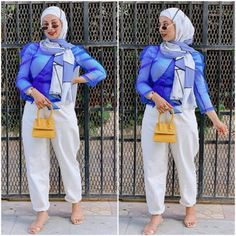 Trendy Summer Outfits, Chic Outfits, Girl Outfits, Dressy Pants, Comfy Pants, Hijab Fashion, Fashion 101, Slouchy Pants, Hijab Trends