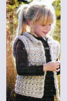 Вязание для детей. Вязание спицами. Жилет