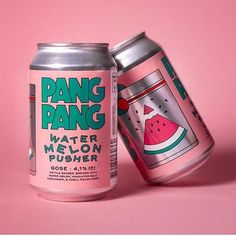 Food packaging has to be delicious 🍉😊 PANG PANG // Cruising for a Watermelon Pusher via . Beverage Packaging, Bottle Packaging, Brand Packaging, Design Packaging, Food Packaging, Coffee Packaging, Food Branding, Food Brand Logos, Identity Branding