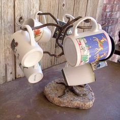 Mug Tree 8 Cup holder Hand crafted made of by PatesMetalWorkShop, $80.00