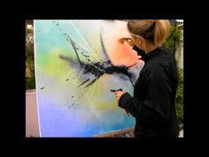 Peinture abstraite acrylique demonstration vidéo HD YouTube shadingart - YouTube