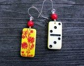 nifty painted dominos re-imagined into jewelry Domino Jewelry, Beaded Jewelry, Unique Jewelry, Sloths, Altered Art, Nifty, Dancing, Jewlery, Charms