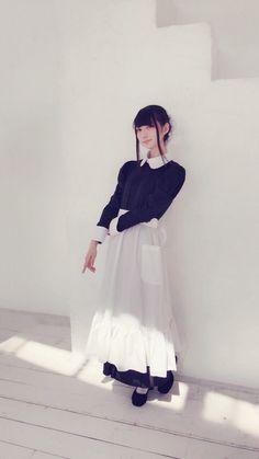 Maid Outfit, Maid Dress, Kawaii Cosplay, Cute Cosplay, Maid Cosplay, Cosplay Girls, Japanese Models, Japanese Girl, Estilo Lolita
