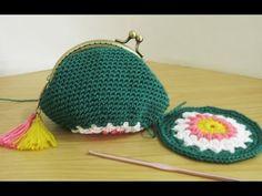 Crochet    Tutorial Dompet Koin Dengan Behel + Inner - Coin Purse With Frame - YouTube