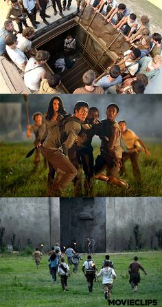 New set photos from the Dylan O'Brien, Thomas Brodie-Sangster Post-Apoclyptic movie The Maze Runner, set to release in 2014.