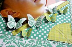powycinane motyle z papierów kolekcji