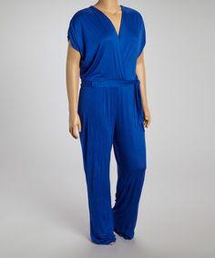 808f68976d0 Royal Blue Surplice Jumpsuit - Plus by GLAM