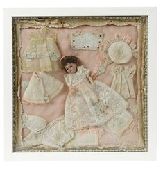 Sanctuary: A Marquis Cataloged Auction of Antique Dolls: 60 French Bisque Doll with Trousseau in Original Box with Original Label