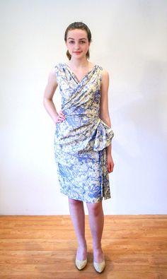 Blue Danube 50s Dress S Pale Blue Gray Taffeta by MorningGlorious