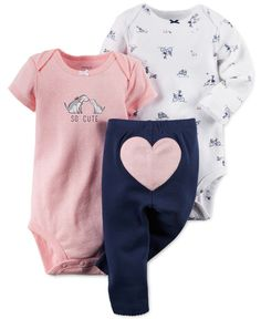 Carter's Baby Girls' 3-Piece So Cute Bodysuits & Pants Set - Kids - Macy's