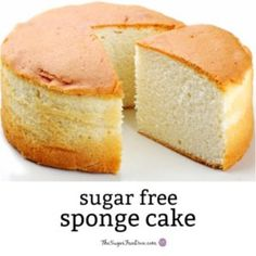 How to make YUMMY and Easy Sugar Free Sponge Cake - Low Carb Keto - I am so happy that there is a way to make Sugar Free Sponge Cake This is because sponge cake is one - Diabetic Desserts, Low Carb Desserts, Diabetic Recipes, Diabetic Foods, Pre Diabetic, Diabetic Living, Diet Recipes, Healthy Recipes, Sugar Free Deserts