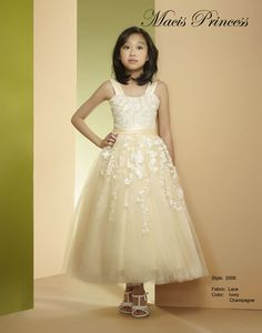 She would look breathtaking in this elegant Macis Design Junior Bridesmaid Dress, great as a Tween Wedding Party Dress. Like Us on Facebook for $10 off!