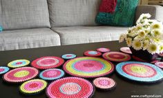 Plastic Canvas Table Runner, would be great as wall art.