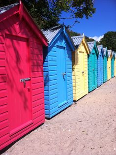 Beach Huts-Llyn Peninsula, Wales Studio Spaces, Beach Huts, Gingerbread Houses, North Wales, Great British, Joules, Welsh, Sheds, Where To Go