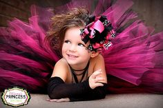 Punk and Posh Hot Pink and Black OVER THE by ellianasprincessbows, $16.99