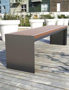 Banquette Bois Soha - Concept Urbain - Fabricant de mobilier urbain – Street furniture manufacturer