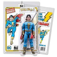 Shazam Jr. DC Comics Retro Style Boxed 8 Inch Action Figures Blue /& Gold