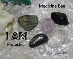 I AM Protection Crystal Medicine Bag.  Affirmation: I AM Protected, safe and secure in my world. by CrystalVibrations06 $8.88  #protection #medicinebag http://wandavirgo.com