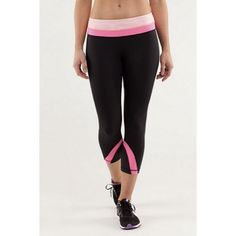 Hot pink Run Inspire Crops Size 6 run inspires! Only worn three times, however are just one size too small for me. Minor pilling that isn't lifting on the inner thigh area. More of a coral pink! So beautiful! lululemon athletica Pants Leggings