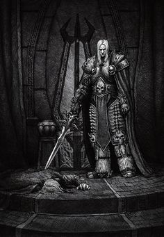 Arthas after kill your father Fantasy Landscape, Fantasy Art, Game Character, Character Design, World Of Warcraft Wallpaper, Arthas Menethil, Worlds Of Wow, World Of Warcraft 3, Lich King