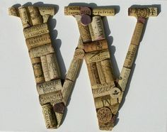 Items similar to Handcrafted Custom Wine Cork Letter - all letters available on Etsy Wine Cork Letters, Crafty, Lettering, Etsy, Unique Jewelry, Handmade Gifts, Cork Ideas, Corks, Vintage